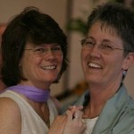 Rev. Dee Lundberg, pictured right, with partner Tia Leschin.