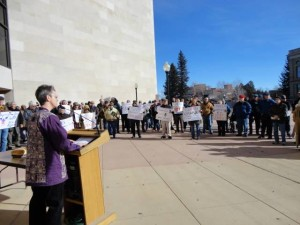 Dee Speaking at Medicaid Expansion Rally